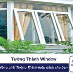 Cửa sổ mở hất 1 cánh NHỰA LÕI THÉP